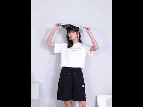 카고 5부 바지 여자 일자핏 인스 여름 캐주얼 반바지 2020 신상 카고 5HIUBG