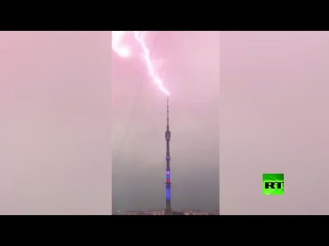 شاهد.. صواعق تضرب برج أستانكينو التلفزيوني  - نشر قبل 3 ساعة