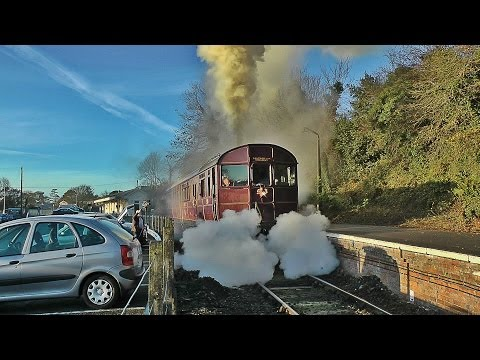 A Great Western Railmotor on the Looe Valley Line - 18/11/12