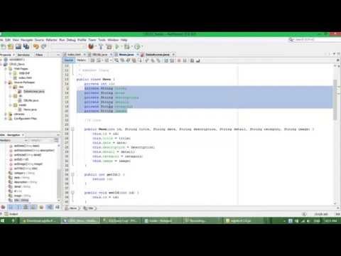 Add, Edit, Delete(CRUD) in Java EE WebApp using JSP  + Servlet