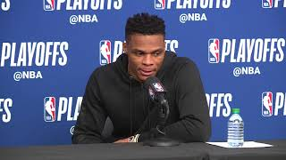 Westbrook, Donovan, PG postgame interview / Thunder vs Jazz Game 6