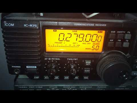A weak signal from TR1 Watan Radio 279 kHz,  Turkmenistan on the Icom IC-R75