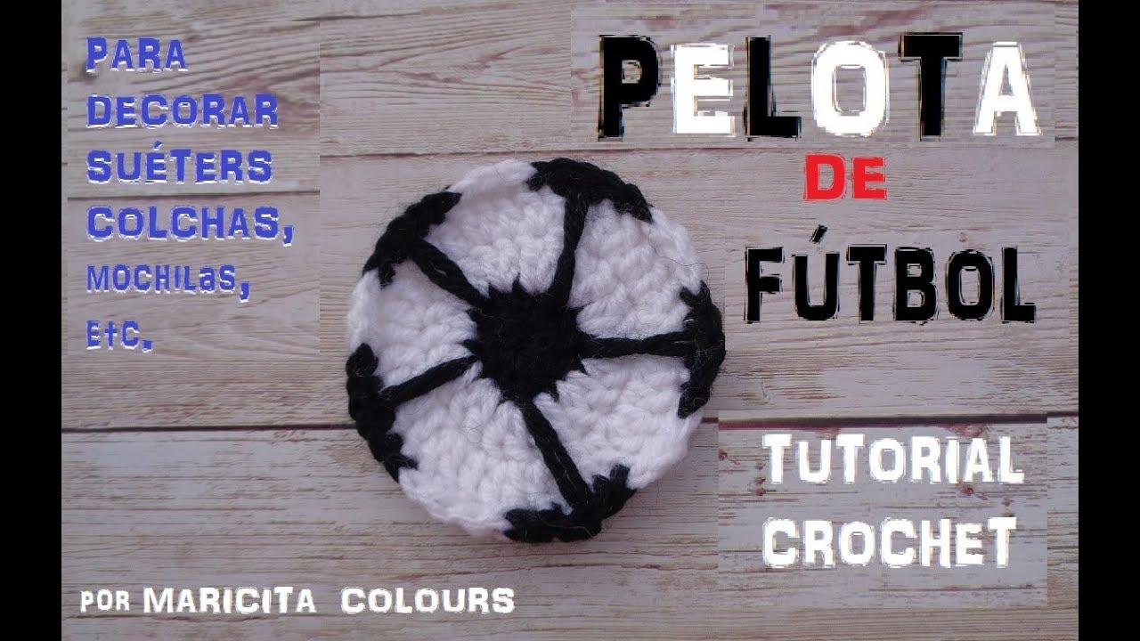 Cómo Tejer Pelota de Fútbol a Crochet Tutorial por Maricita Colours ...