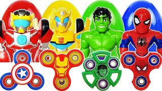 The Grinch appeared with Venom, Go~! Mega Hulk, Spider-Man, Transformer Rescue Bot, Fidget Spinner
