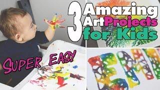 3 einfache Kunstprojekte für Kinder   Easy Art 4 kids   DIY   mamiblock - Der Mami Blog