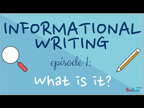 Informational Writing for Kids- Episode 1 What Is It? - YouTube