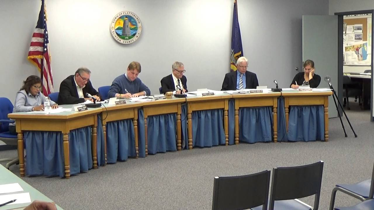 Town of Plattsburgh meeting  10-3-16