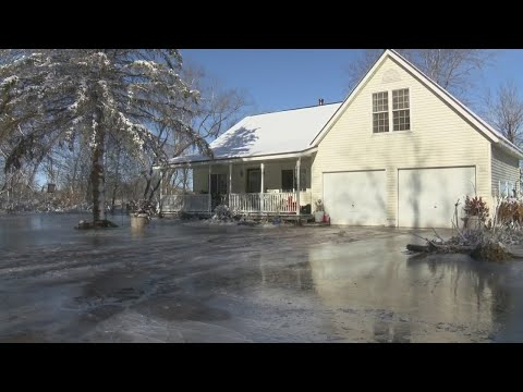 Oconto Flooding Turns To Ice, Ruining Homes Along The River