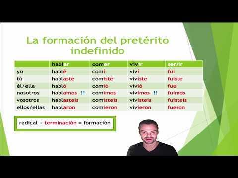 Lernvideo formación pretérito indefinido
