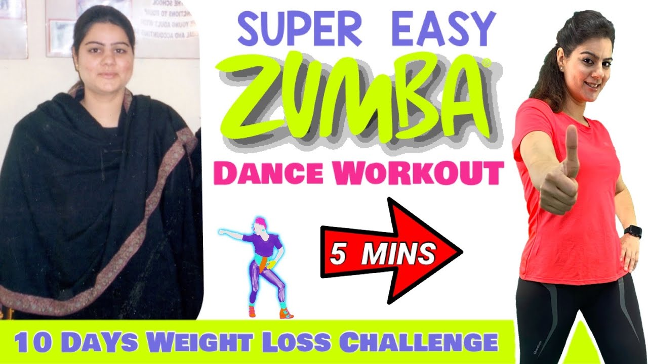 5 Mins Easy Weight Loss Zumba Dance Workout for Beginners at Home – Easy Home Workout to Lose Weight