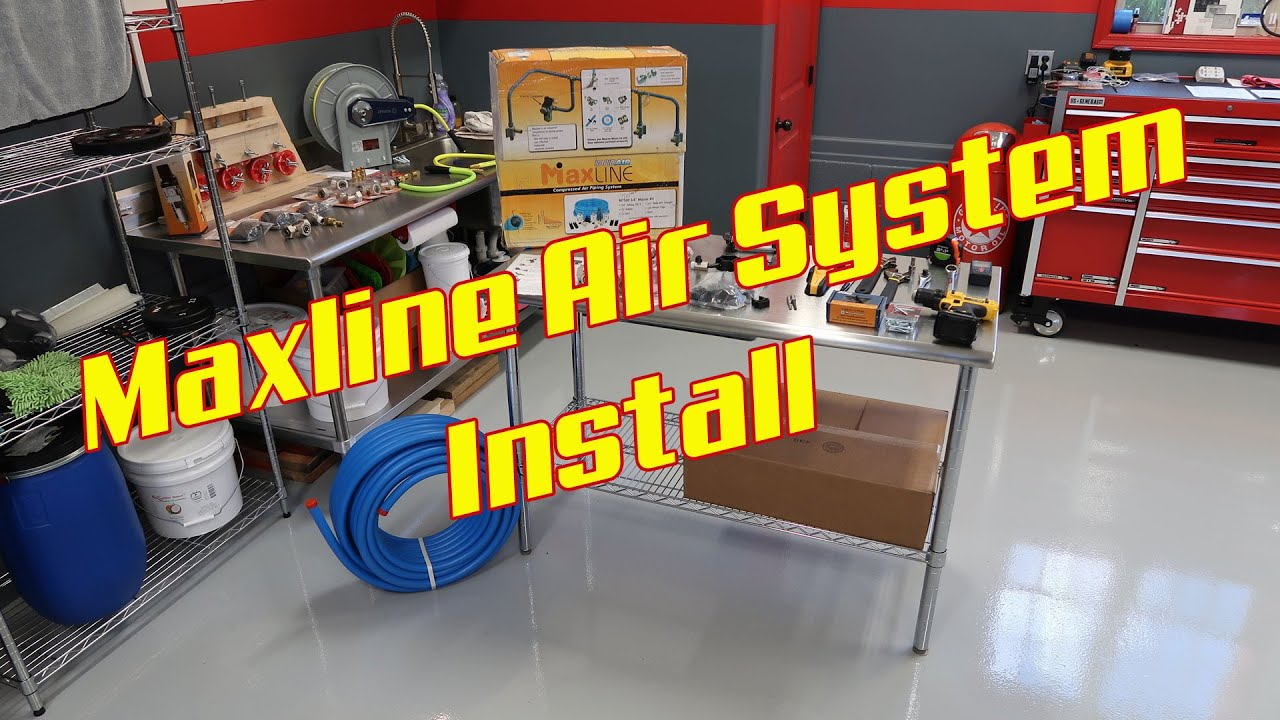 rapid air maxline air system install speedy 39 s garage youtube. Black Bedroom Furniture Sets. Home Design Ideas