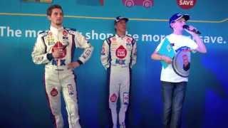 BTCC Rockingham 2014 - Jason Plato & Sam Tordoff Driver Q&A