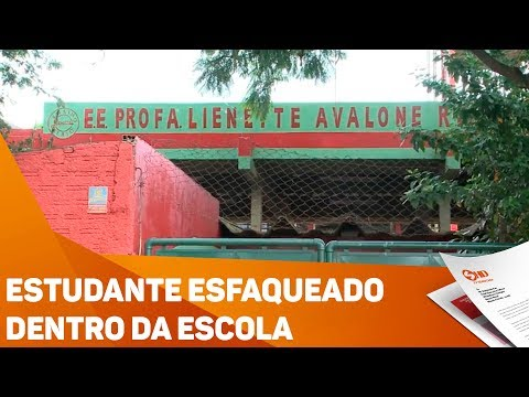 Estudante esfaqueado dentro da escola - TV SOROCABA/SBT