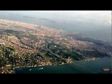The Most Beautiful City: Istanbul 2012 - Turkish Airlines landing at Istanbul Ataturk Airport (HD)