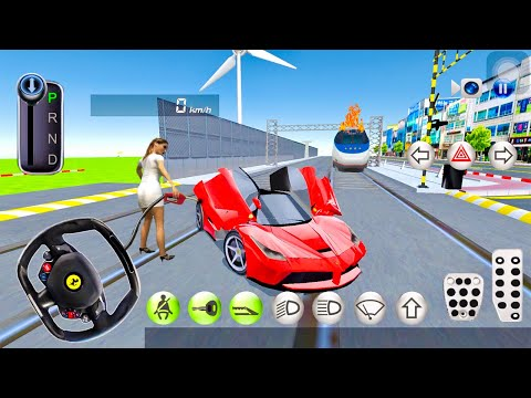 Bullet Train Vs Luxury Car Driving simulator - 3d Driving Class - New Android Gameplay