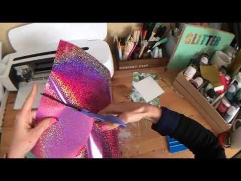 How to Iron On Paper! - With Holographic and The Cricut Easypress