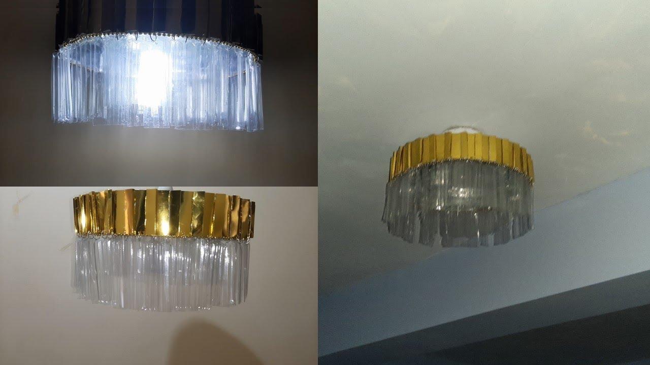 Lámpara de techo, full reciclaje fácil y económica- ceiling light, recycling lamp