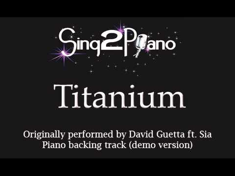 Titanium (Piano backing track) David Guetta ft. Sia