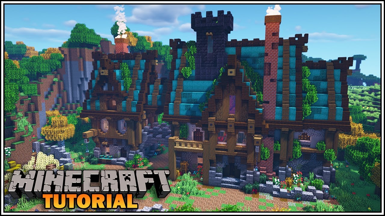Minecraft: How to Build a Large Medieval Fantasy House [ULTIMATE SURVIVAL  HOUSE]