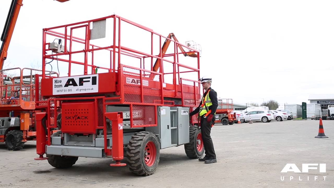 AFI MEWP Familiarisation videos Skyjack SJ6826RT, SJ6832RT, SJ8831, SJ8841,  SJ7135, SJ9250 by AFI-Uplift Ltd