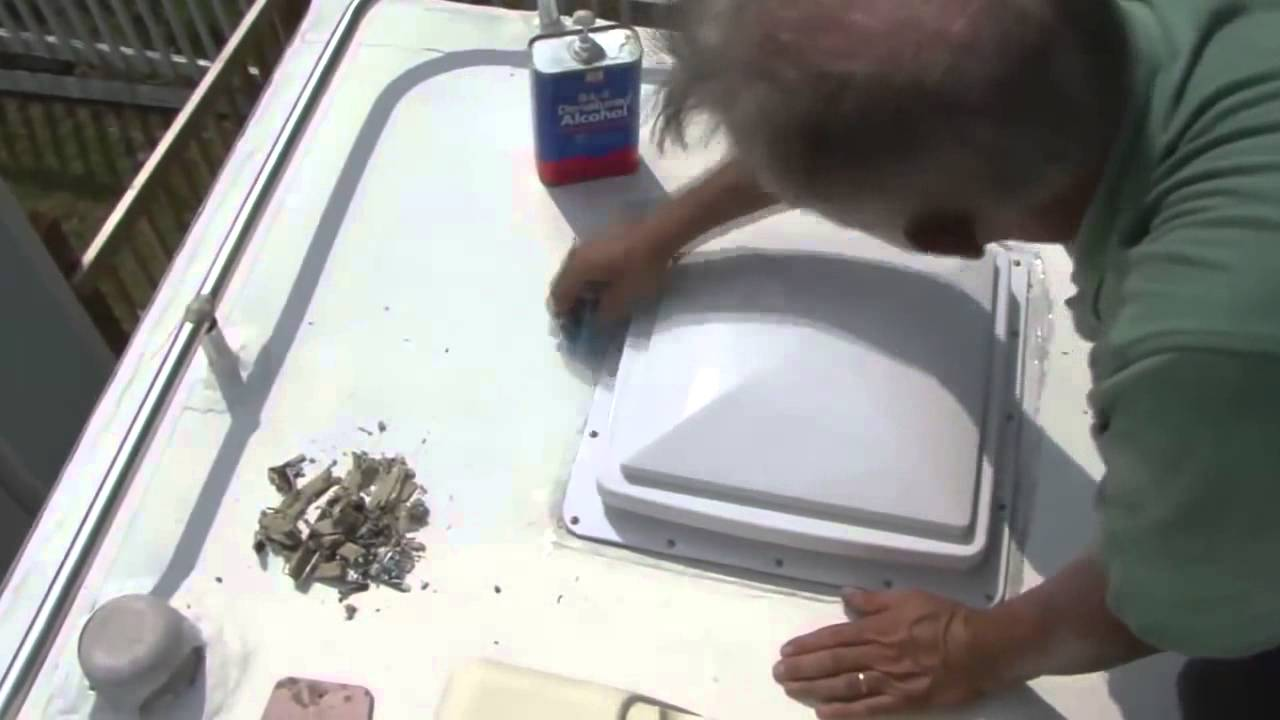 How To Install And Seal An Rv Roof Vent Using Dicor Lap