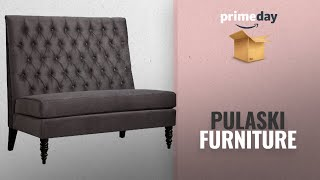 Save Big On Pulaski Furniture | Prime Day 2018: Pulaski Tufted Upholstered Settee Accent Chair in