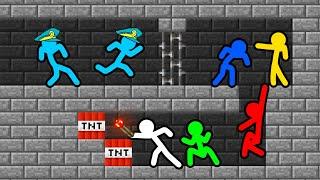 Stickman VS Minecraft: Secret Prison Room Escape - AVM Shorts Animation