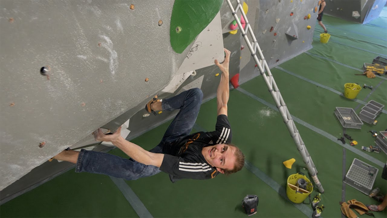 Climbing with Young Bouldering Bobats - 4 years ago #shorts