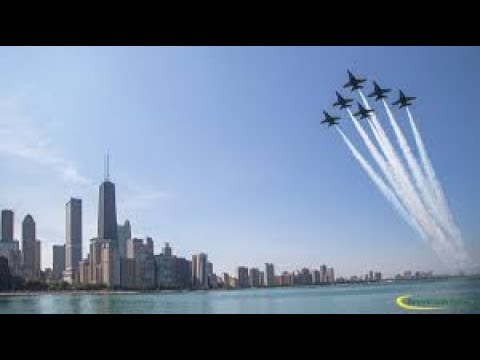 Blue Angels - Demonstration At 2017 Chicago Air And Water Show - Close Up