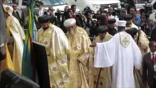 Meskel celebrations  in Ethiopia with Patriarch Tewodros Pope of Alexandria (September 27, 2015)