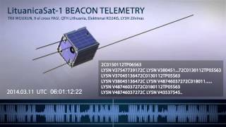 LituanicaSat 1 BEACON TELEMETRY 2014 03 11 UTC 05 55 06 05