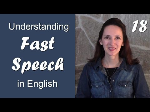Day 18 - Dropping the G - Understanding Fast Speech in English