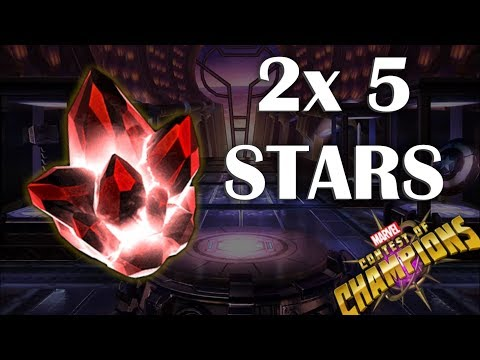 2 x 5 star crystal Opening (after Blade) - Marvel Contest of Champions