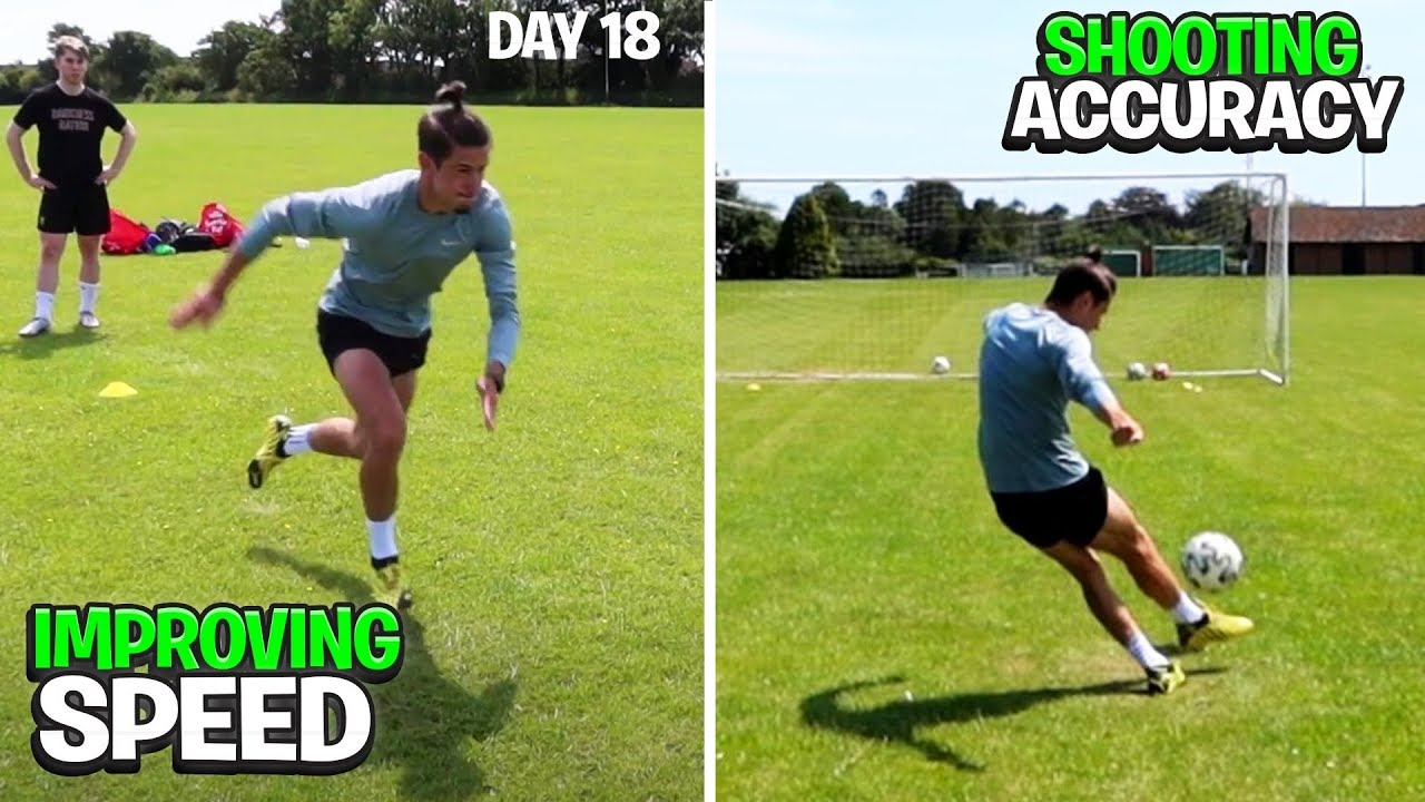 Improving Shooting Accuracy and Sprint Speed... (DAY IN THE LIFE OF A FOOTBALLER) | Day 18