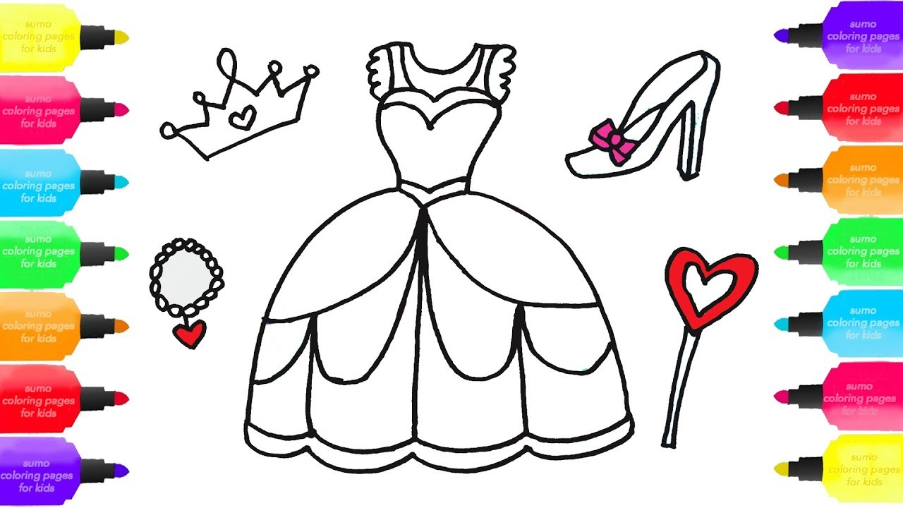 How To Draw Princess Dress For Girls