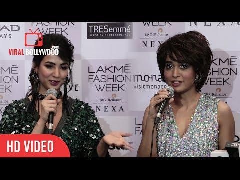 Sayani Gupta And Sonal Chauhan Interview At Lakme Fashion Week Winter Festive 2017