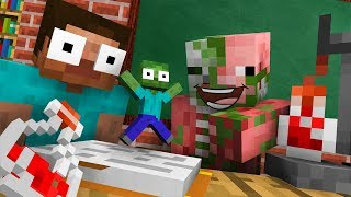 Monster School : TINY ZOMBIE CHALLENGE - Minecraft Animation