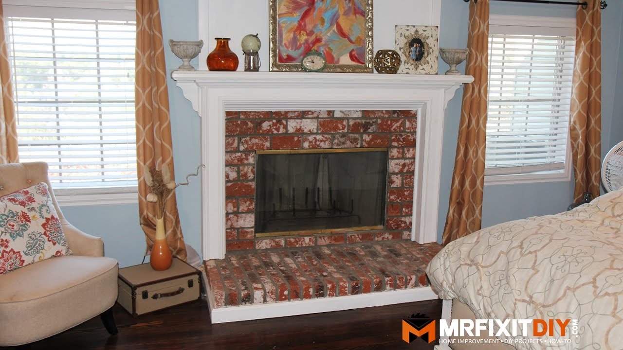 Update Old Brick Fireplace Diy Fireplace Makeover