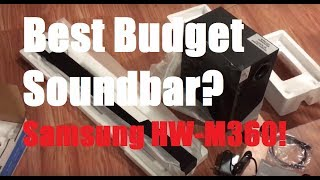 Best Budget Soundbar? Samsung HW-M360 Review And Demo!!