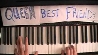 "Queen ""Your my Best Friend"" How to Play on Piano Tutorial"