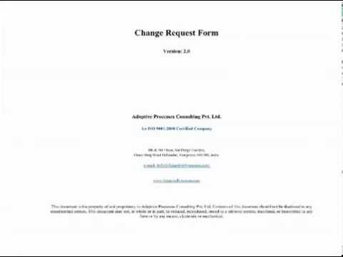 Change Request Form  Youtube