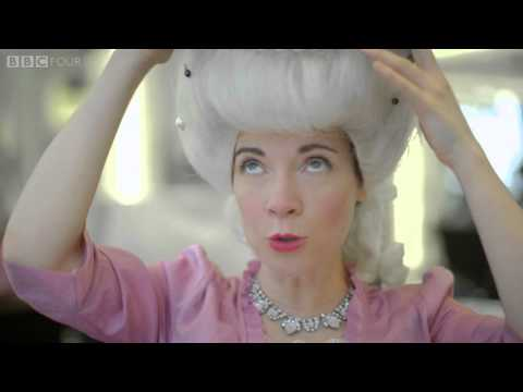 Lucy reaches peak hair - A Very British Romance with Lucy Worsley: Episode 1 - BBC Four