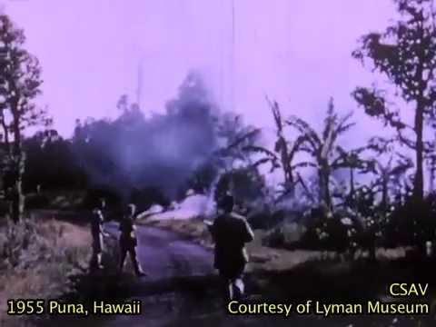 1955 Volcanic eruption in Puna, Hawaii