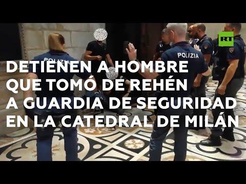 RT en Español: Detienen a un hombre que tomó de rehén a un guardia de seguridad en la catedral de Milán