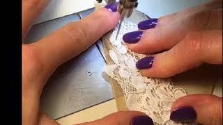 Как нашить Кружево и Аппликации на сетку свадебного платья