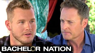 Colton Speaks To Chris Harrison About Public Reaction | The Bachelor US