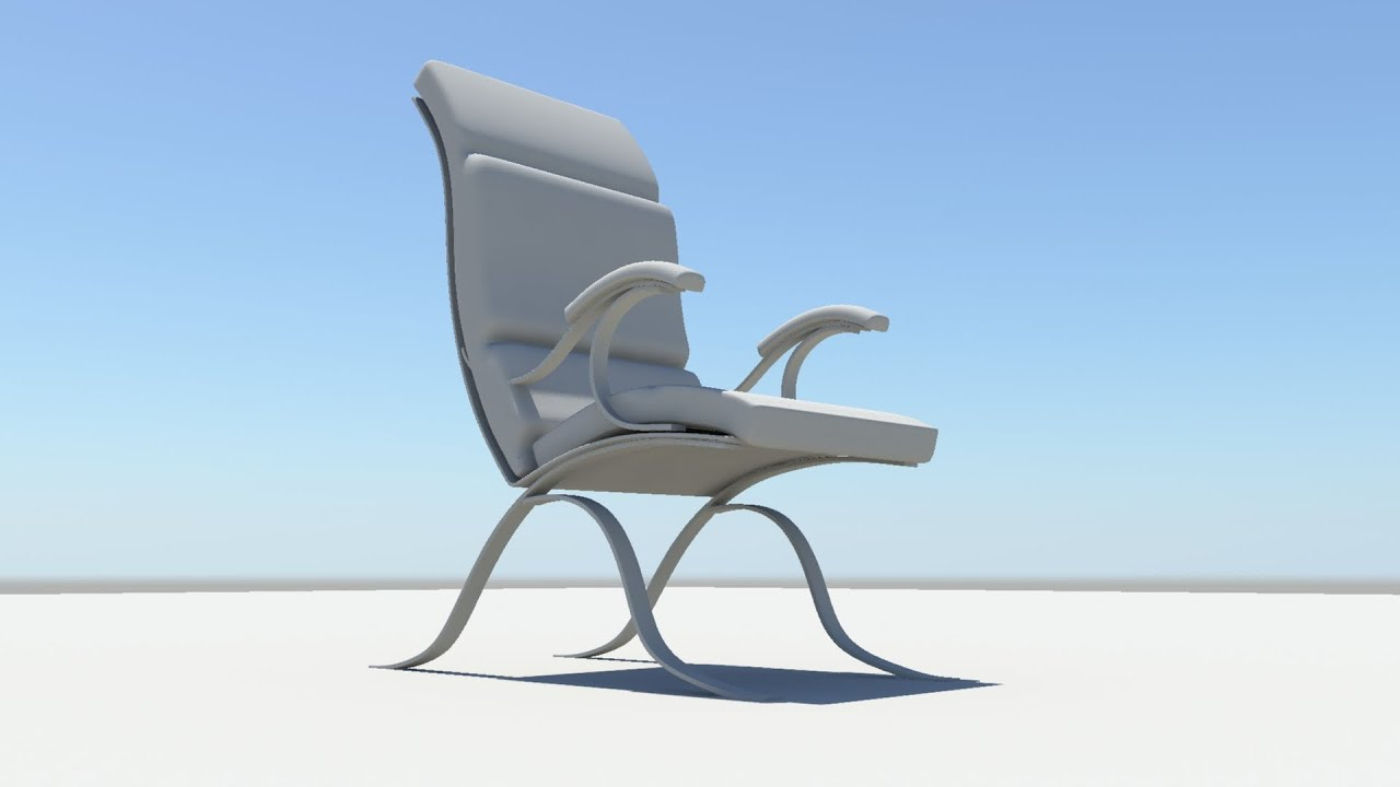 & maya modelling making of Chair - YouTube