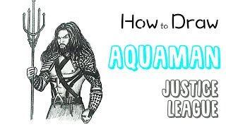 How to Draw Aquaman from Justice League