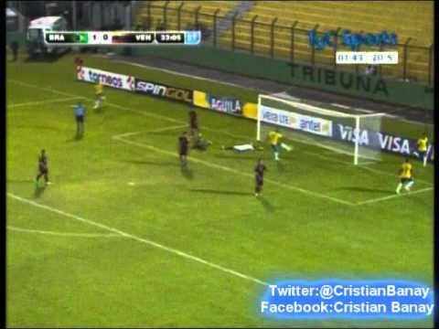 Brasil 2 Venezuela 0 (CX12 Radio Oriental) Sudamericano Sub 20 2015 los goles