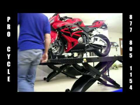 procycle motorcycle lift - lifting procedure